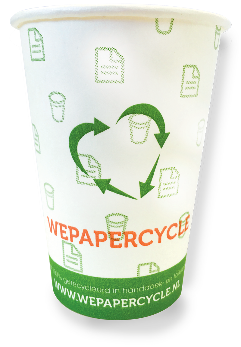 WEPAPERCYCLE duurzame koffiebeker
